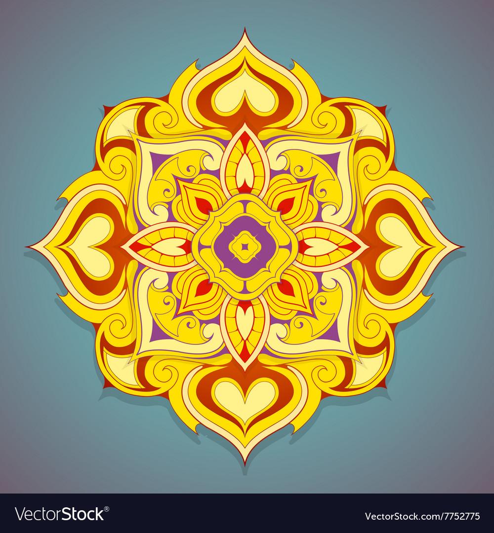 Decorative mandala shape