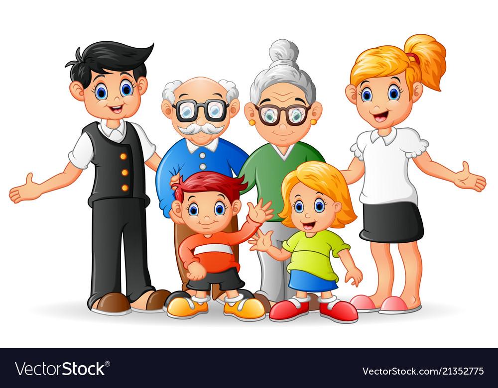 Happy Cartoon Family Royalty Free Vector Image