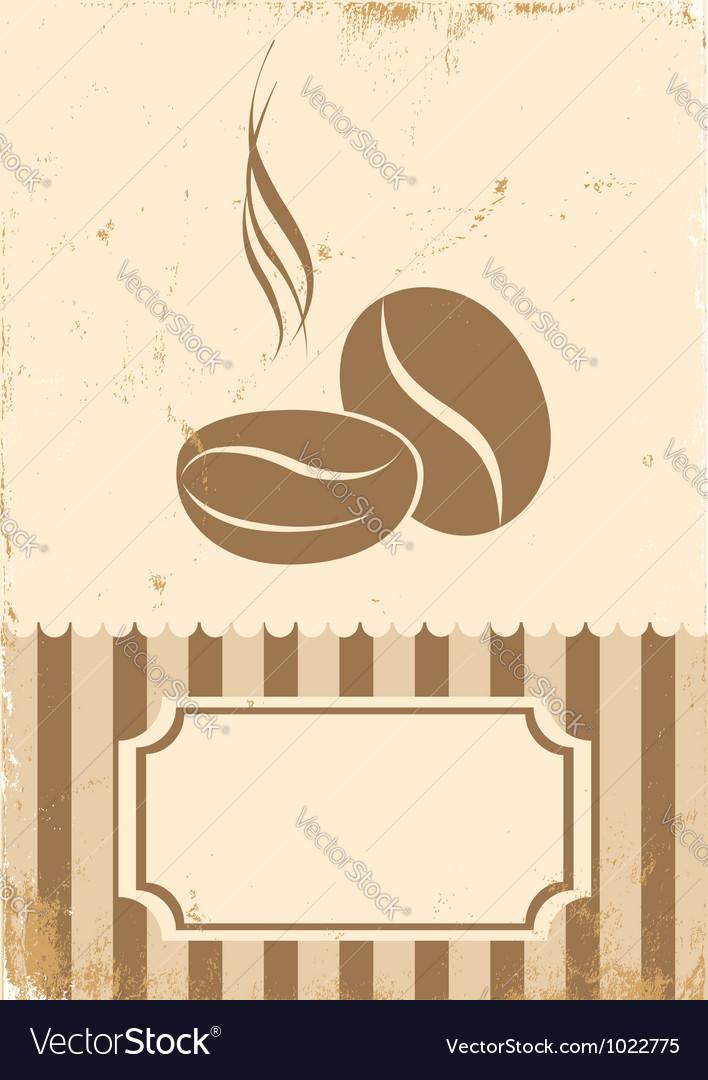 Retro paper coffee bean