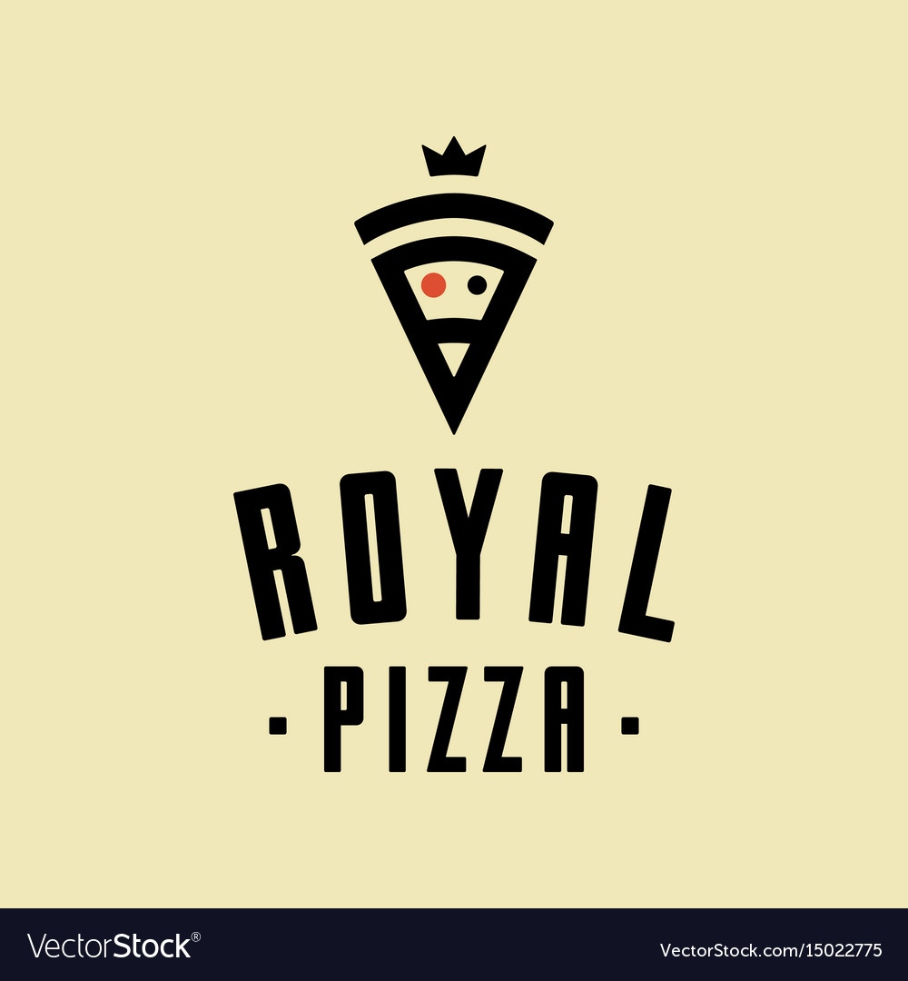 Royal pizza minimalism style logo icon vector image