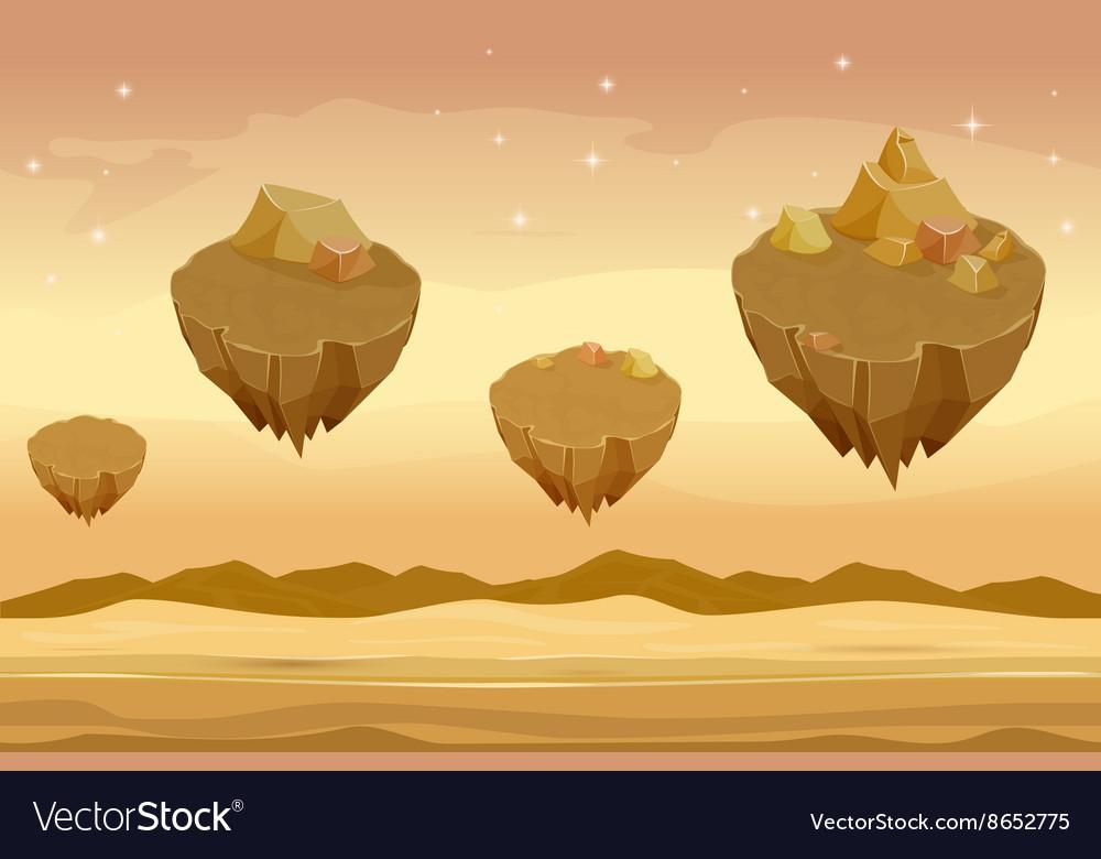 Seamless cartoon desert landscape sandy