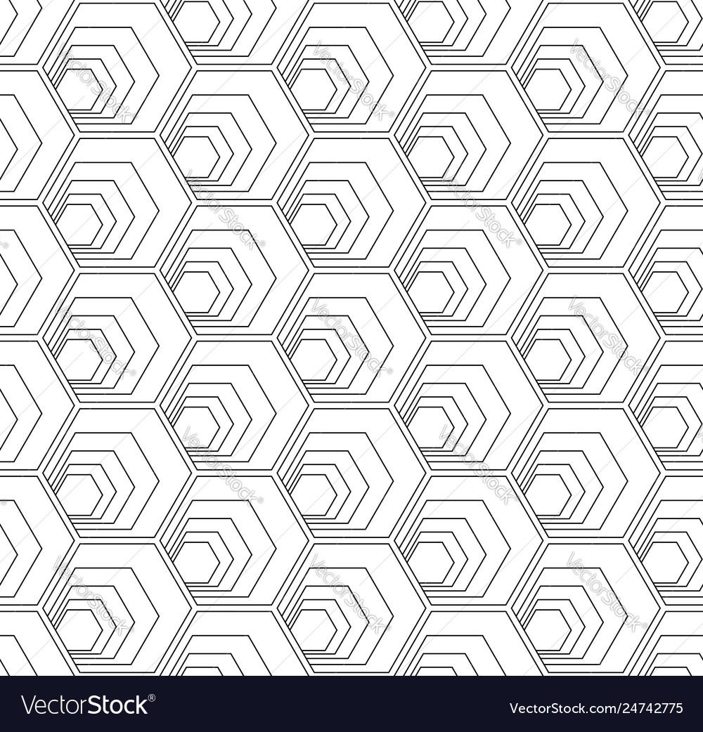 Seamless hexagons pattern
