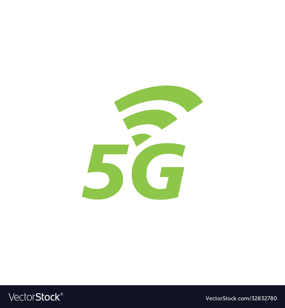 5g network icon design template isolated