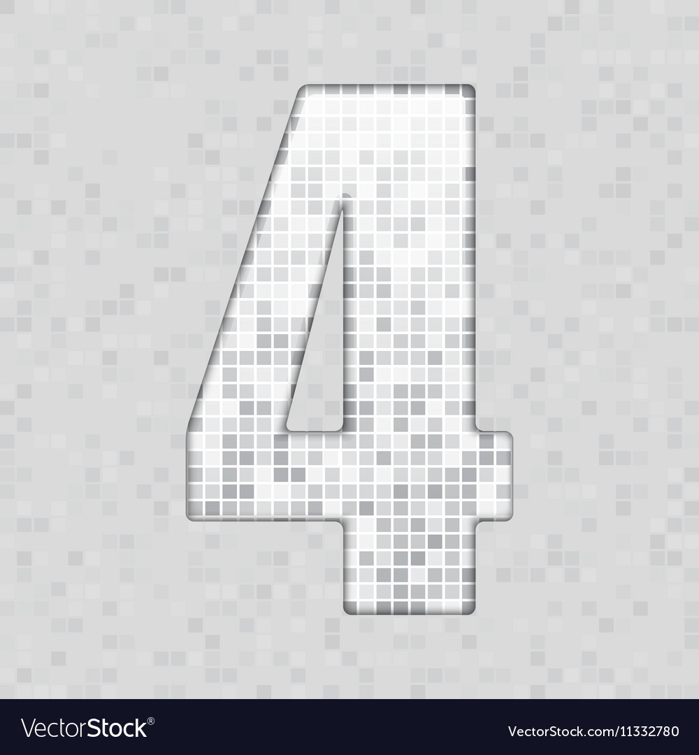 alphabet grey tile figure letter and sing vector image