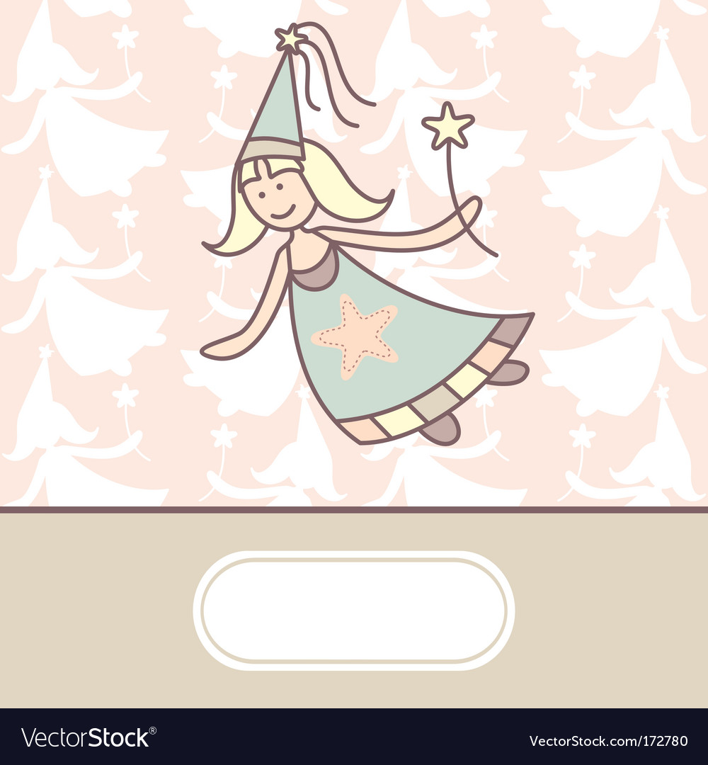 Baby arrival card with fairy
