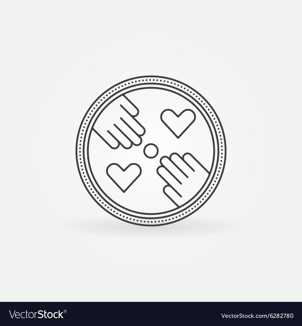 Hand made label or logo vector image