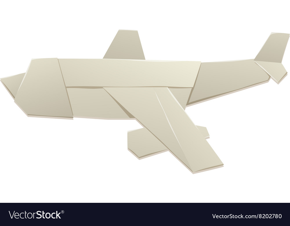 Origami Airplane And Paper Plane Handmade Vector Image