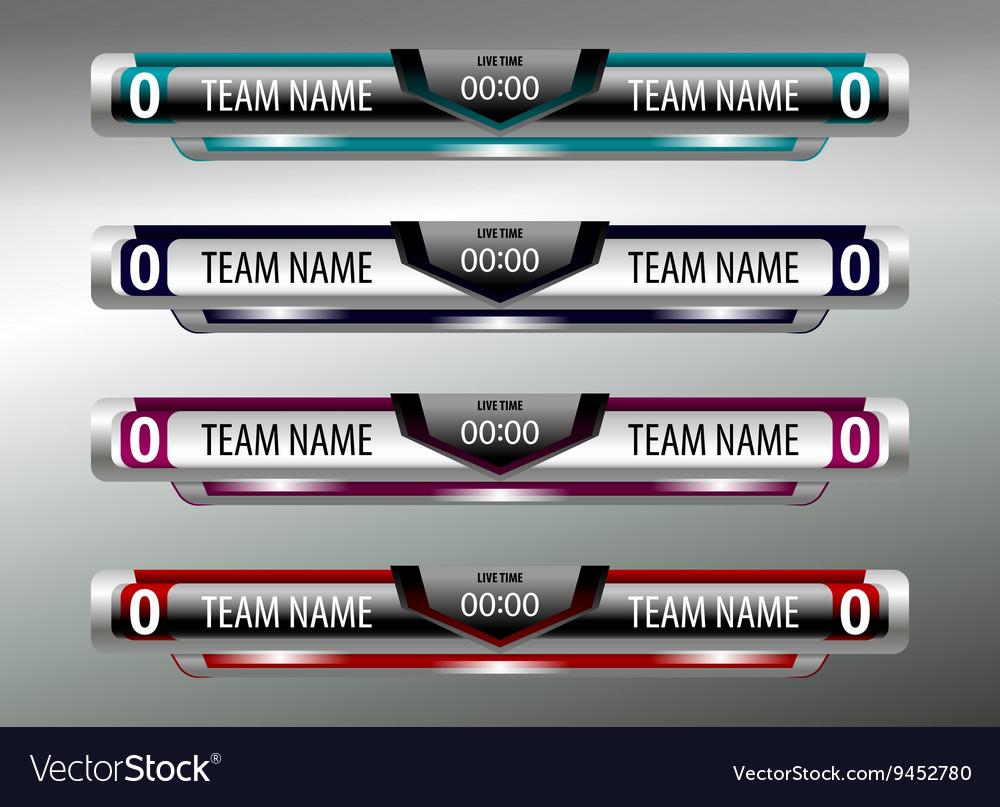Scoreboard sport design elements