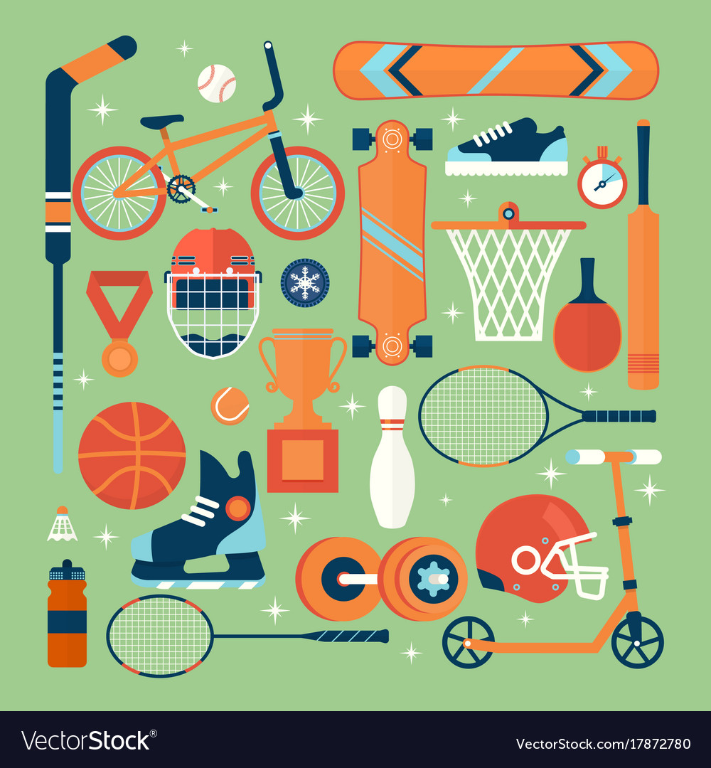 Set of colorful sport iconsisolated