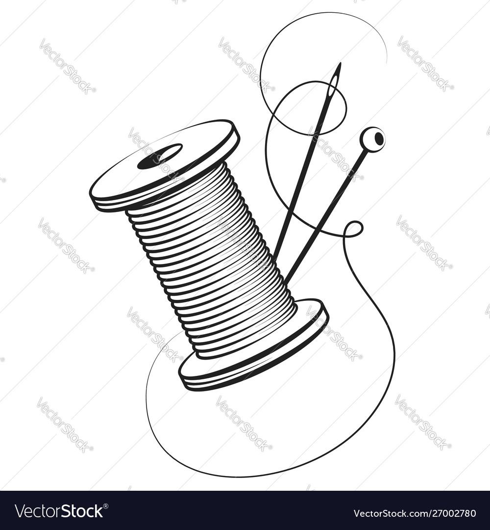 Spool thread and needle