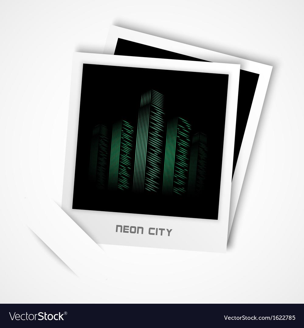 Polaroid neon city