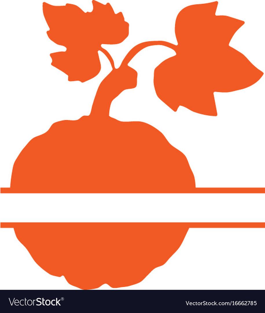 Pumpkin Split Monogram Svg Pumpkin Svg Halloween Vector Image