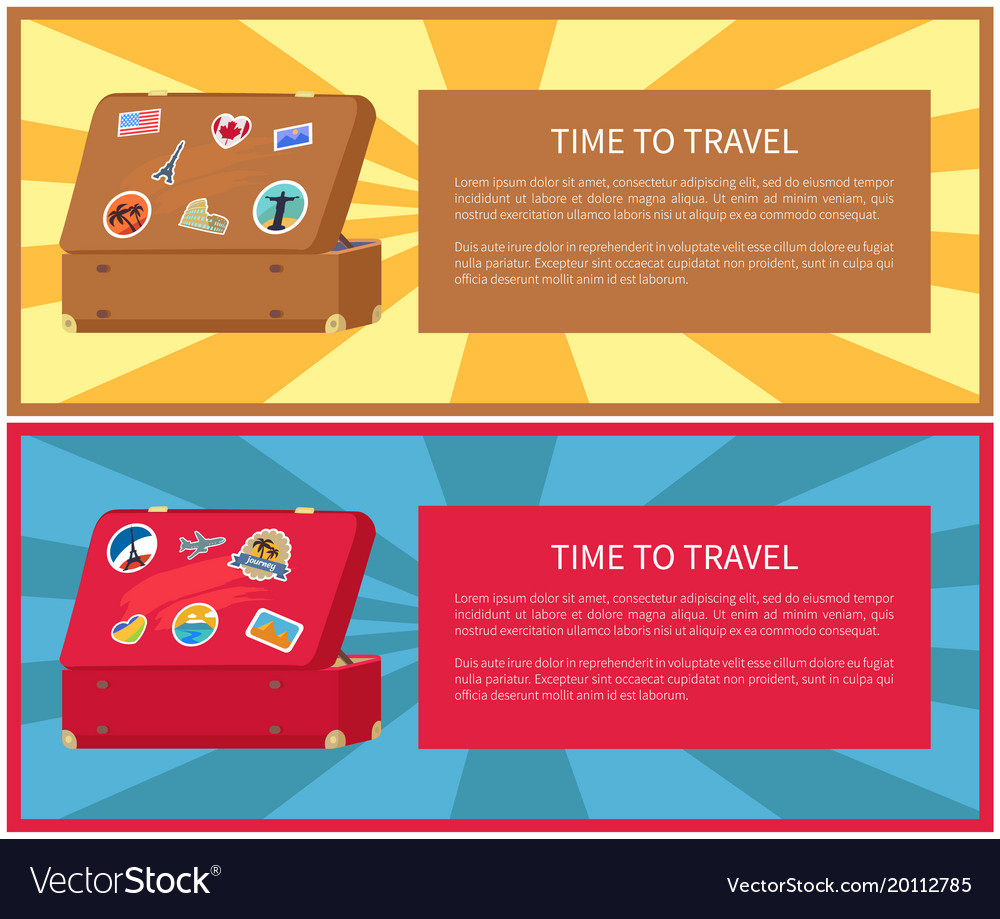 Time to travel posters set