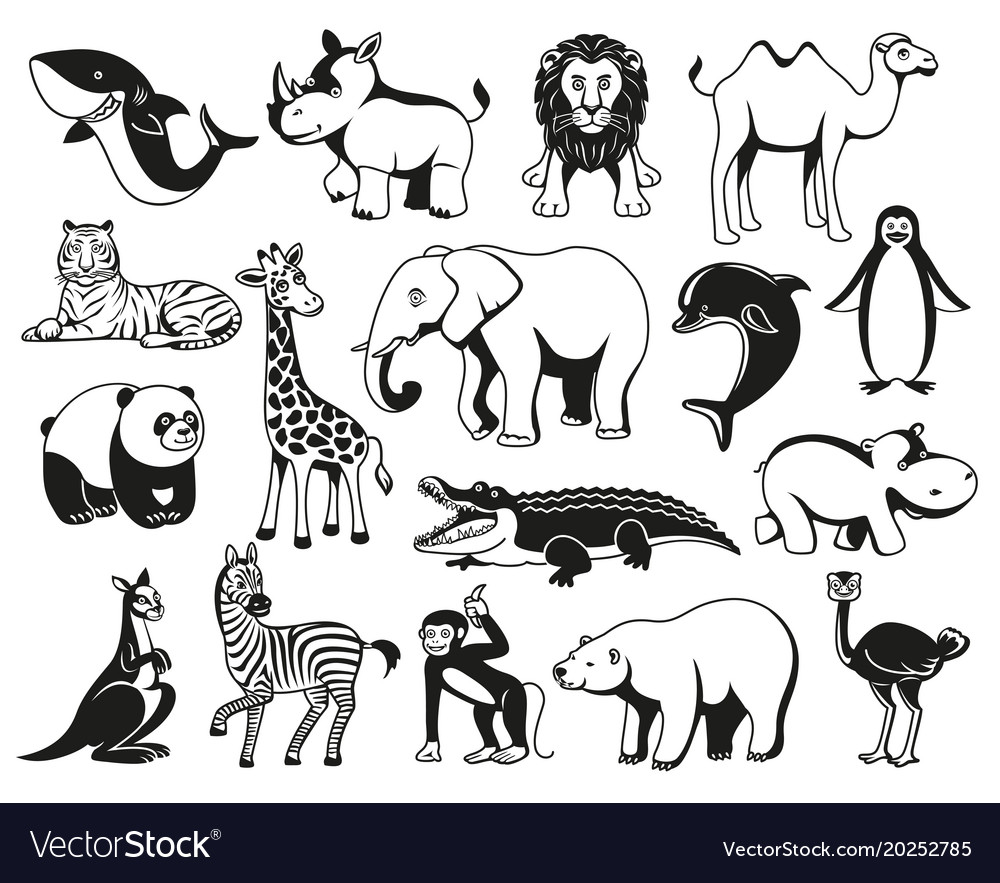 wild animals black and white graphic silhouette vector image clip art zebra mascot clip art zebra mascot
