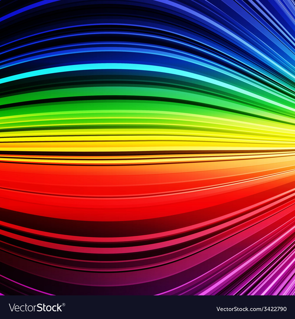 Abstract rainbow warped stripes colorful vector image