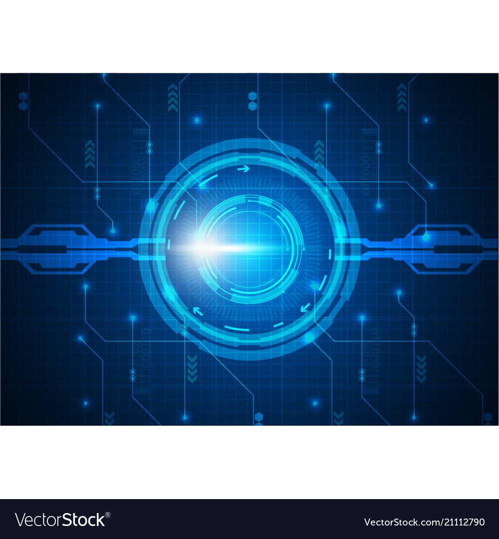 Blue light circle digital technology