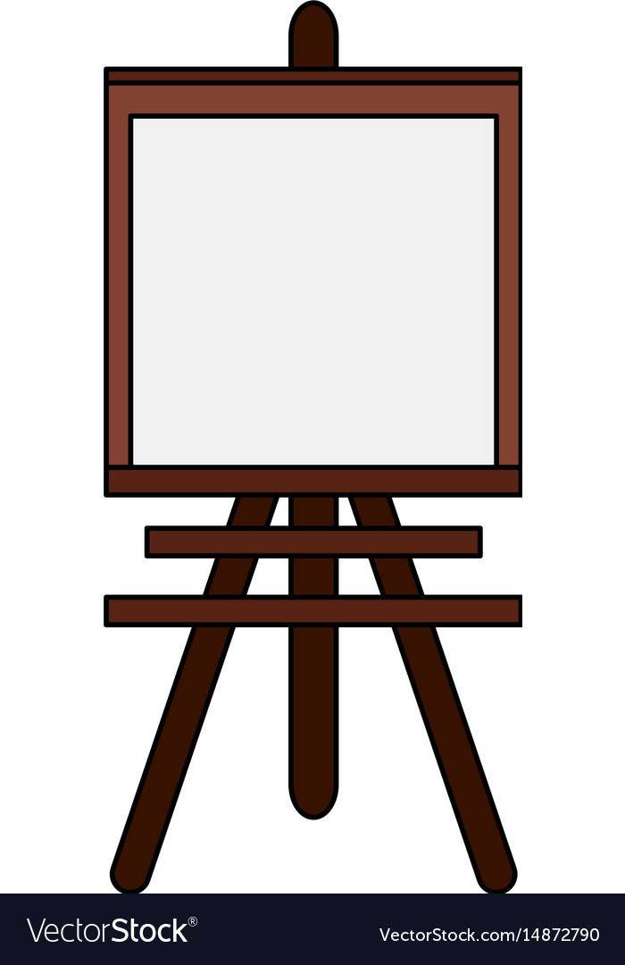 Color image cartoon wooden easel for drawing