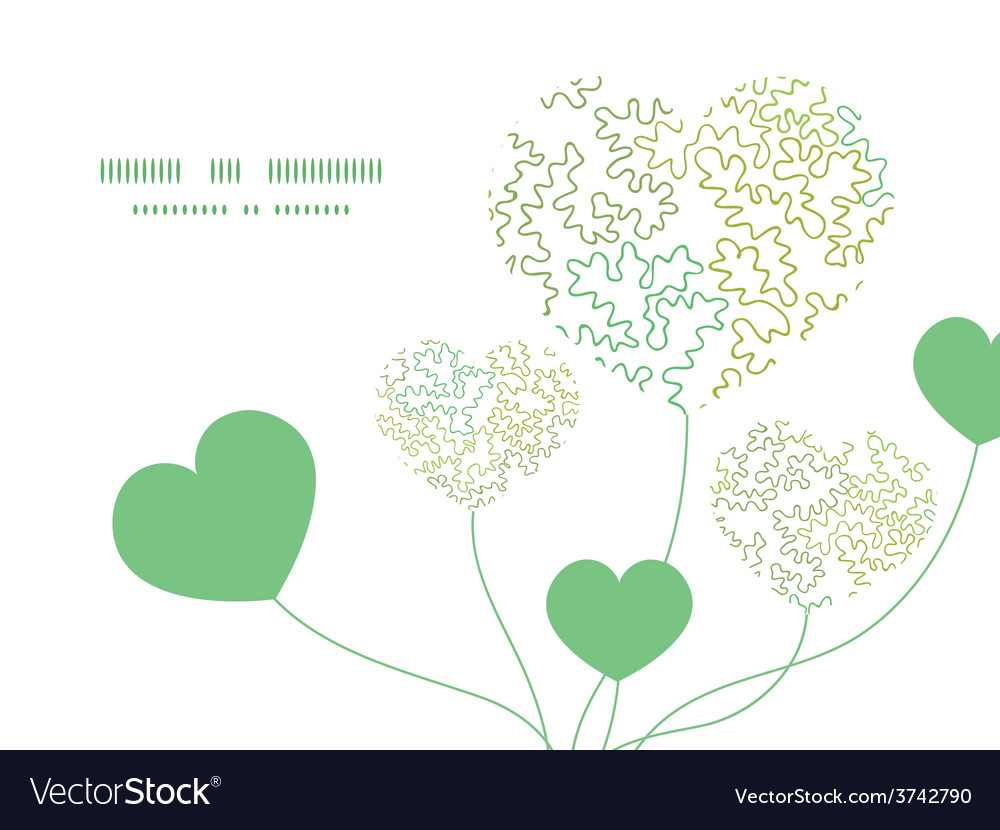 Curly doodle shapes heart symbol frame Royalty Free Vector