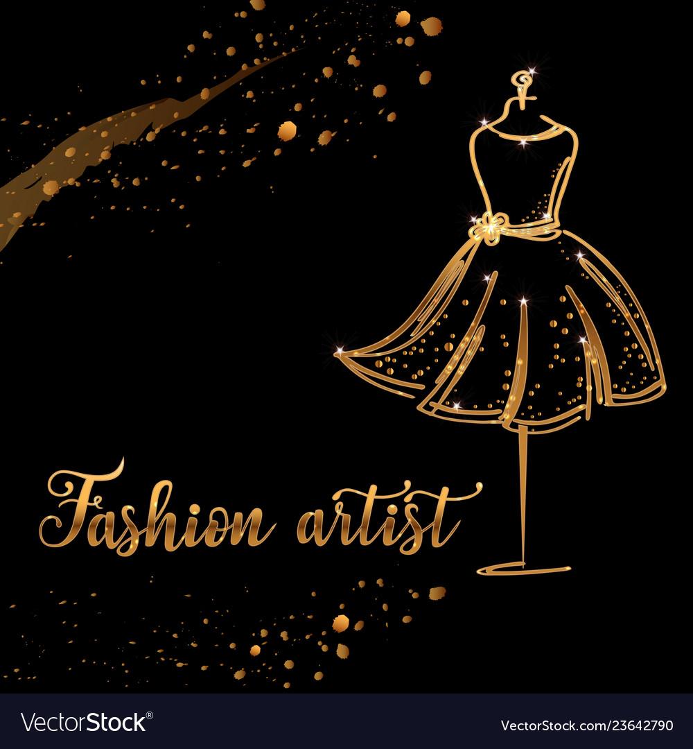 Logo fashion studio custom handmade calligraphy