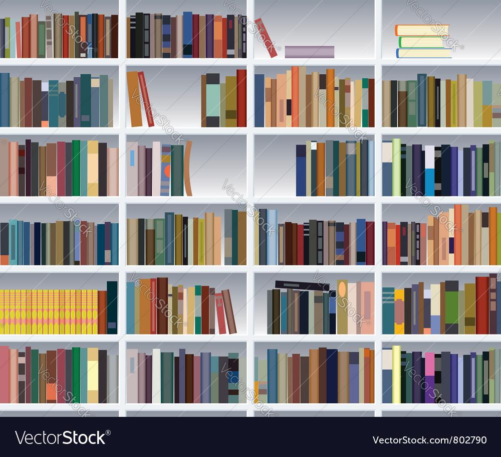 Modern Bookshelf Royalty Free Vector Image Vectorstock