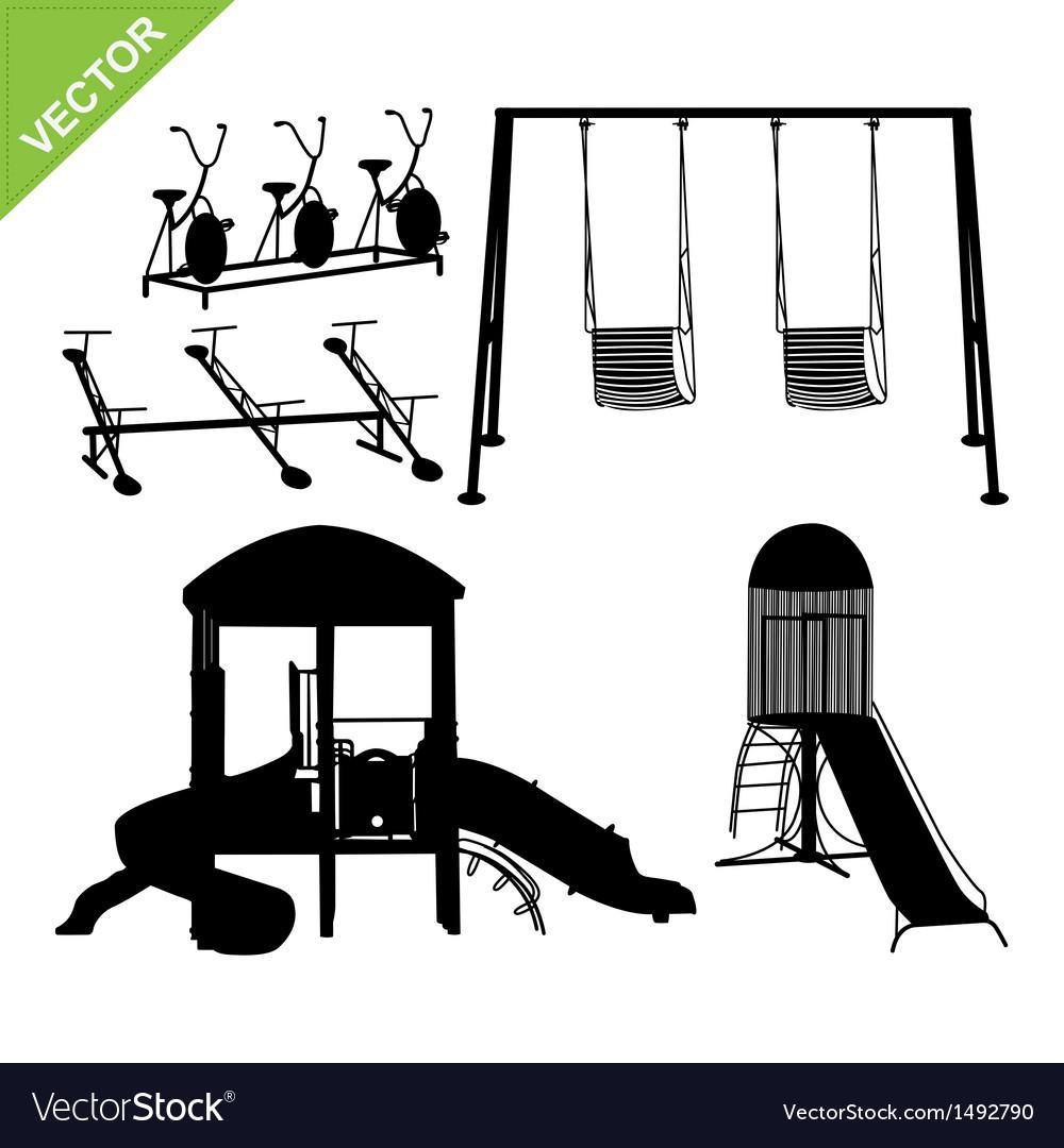 Playground silhouettes