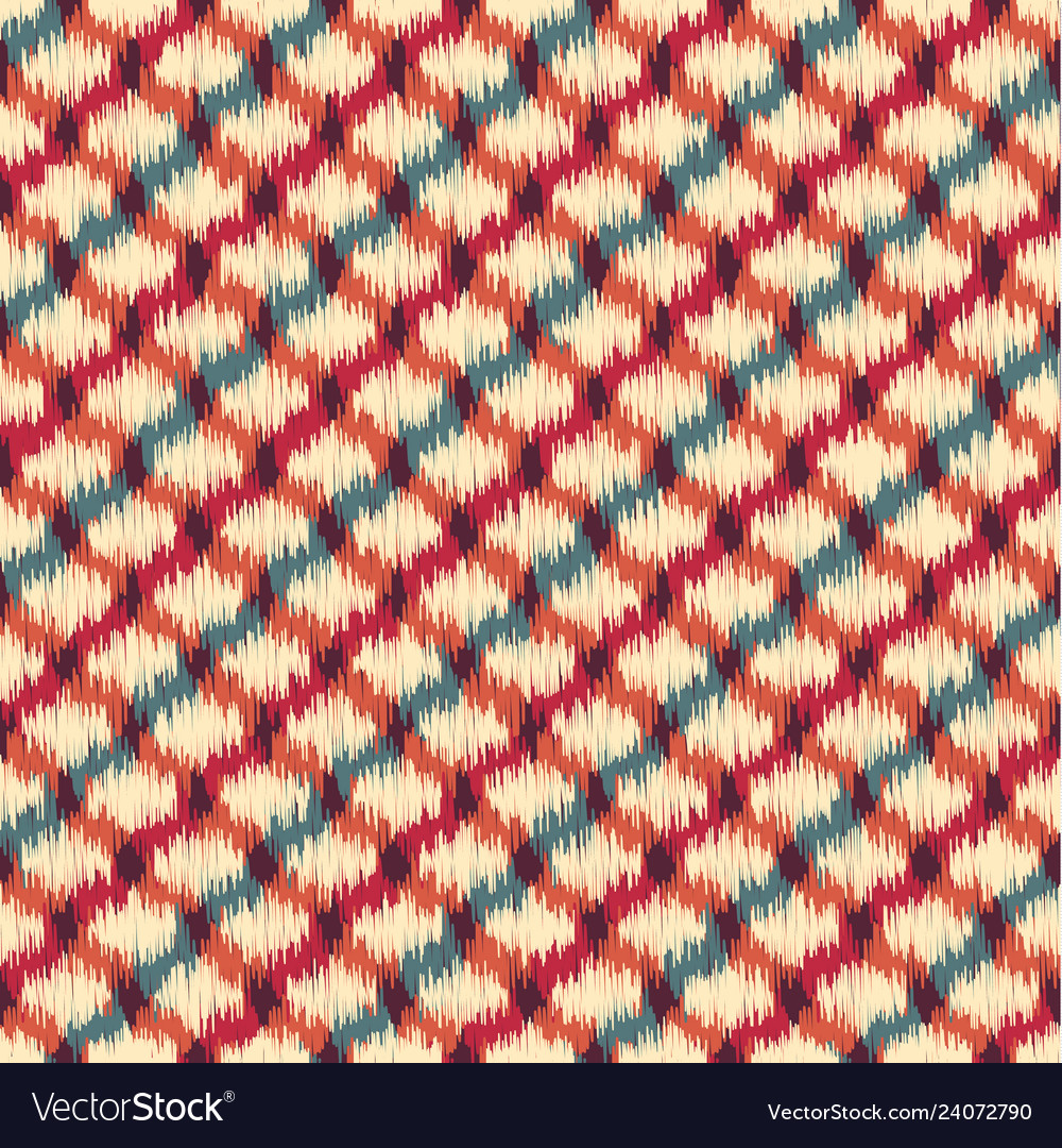 Seamless ikat textured embroidery background