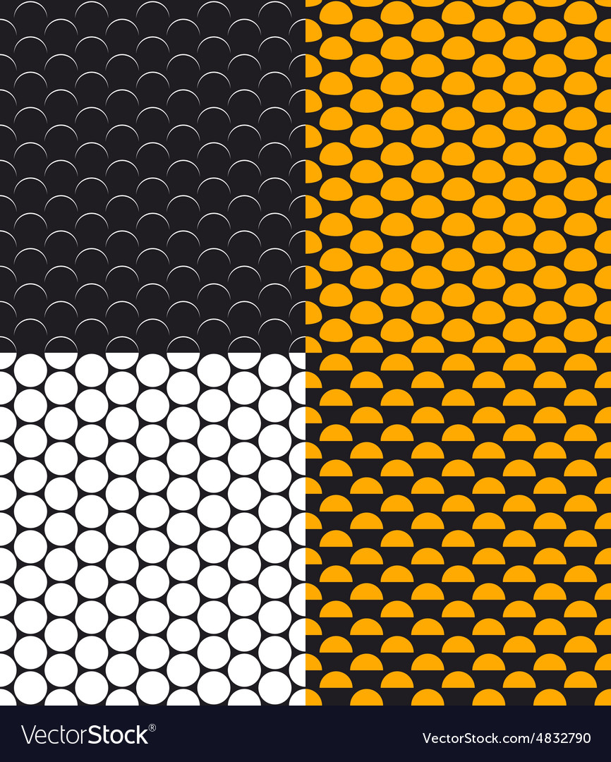 Set of Abstract Dotted Seamless Pattern