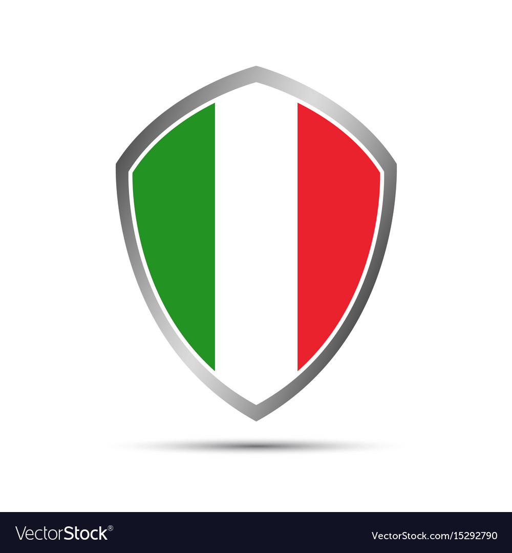 Simple italian pointers in the shape of a shield vector image