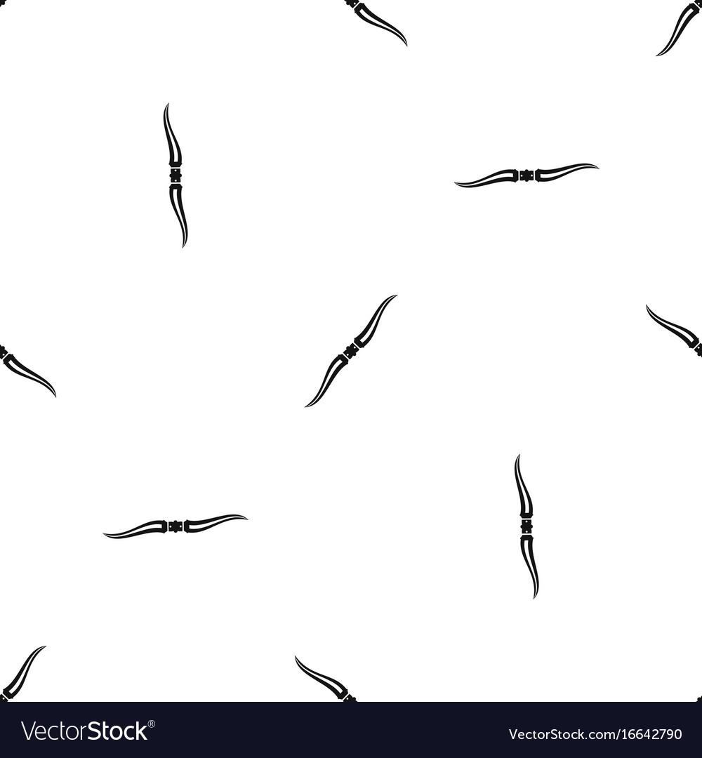 Throwing ninja knife pattern seamless black vector image