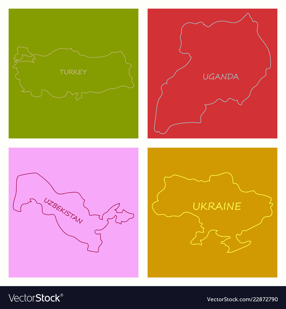 world map colorful world map with countries
