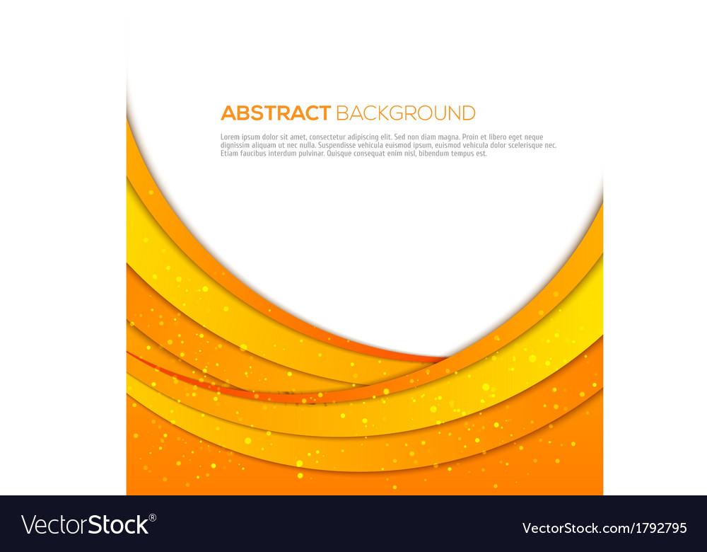 Absatract orange background vector image