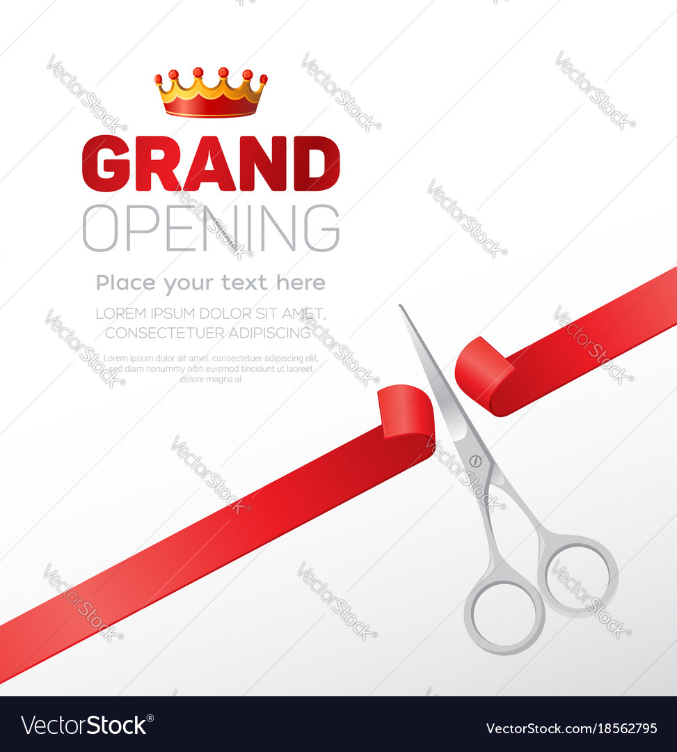 grand opening template modern royalty free vector image