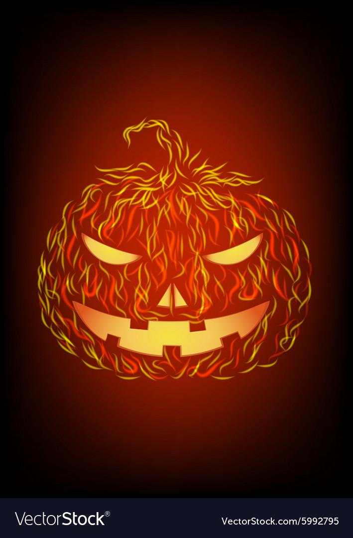 Halloween pumpkin in fire