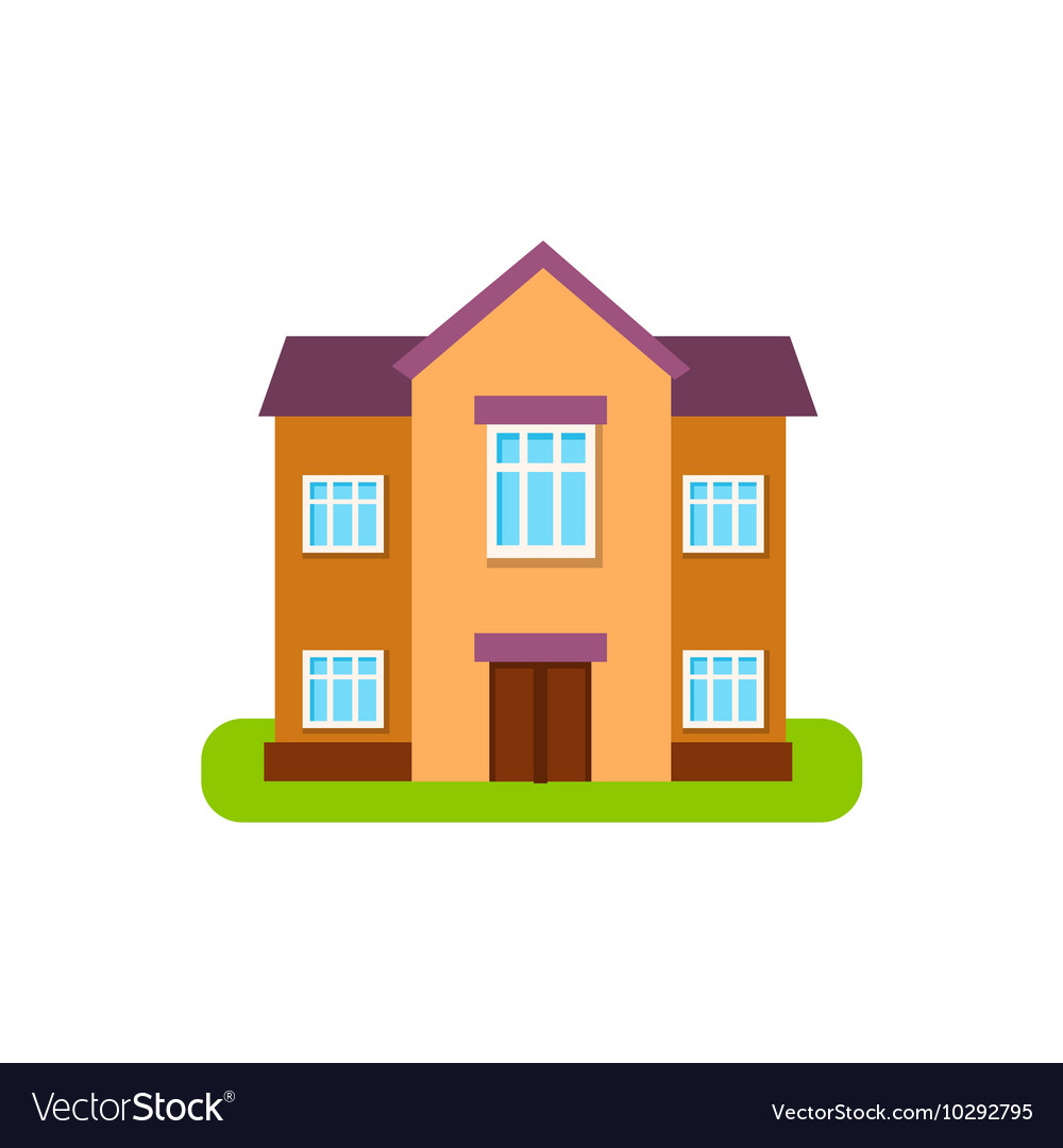 Large Two Storey Suburban House Exterior Design Vector Image