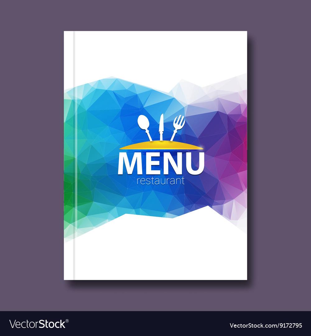 Trendy Triangular Restaurant Menu Design Cover Vector Image