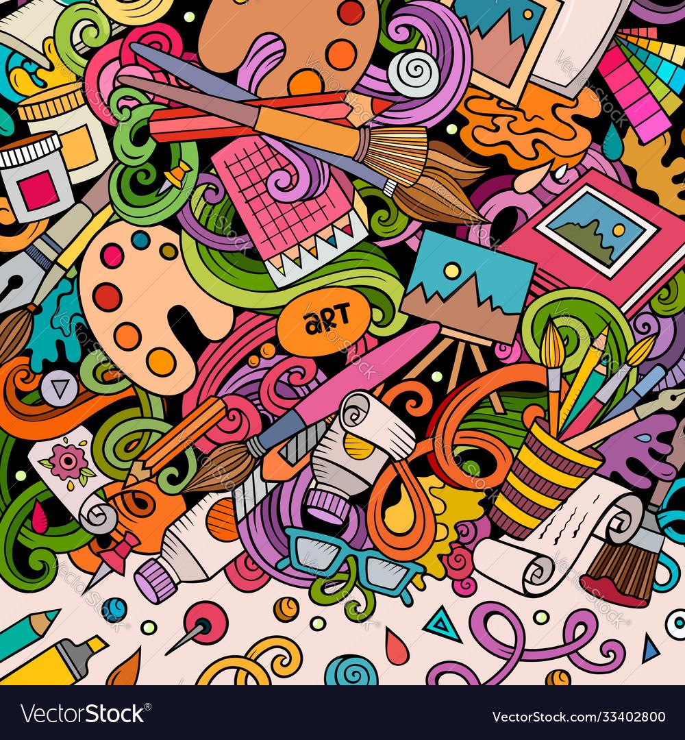 Cartoon doodles art card artistic funny