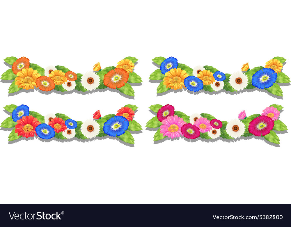 Floral border designs