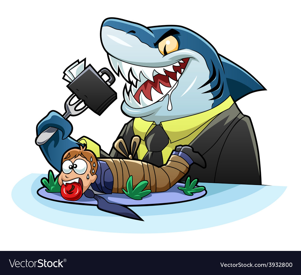 Hungry business shark