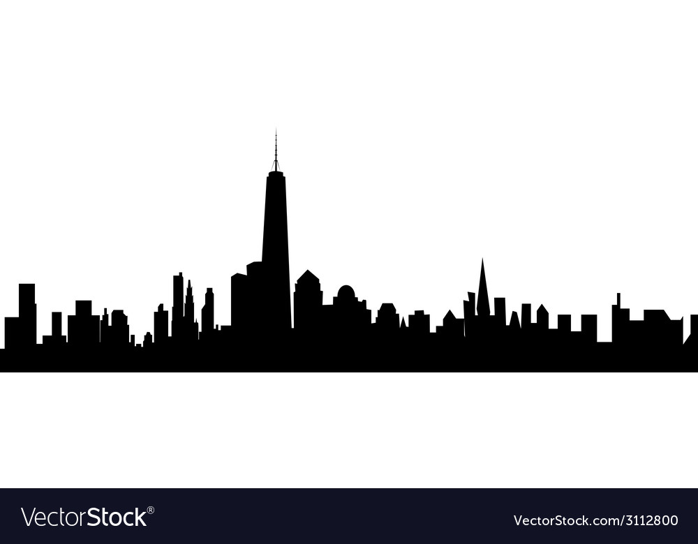 new york skyline royalty free vector image vectorstock