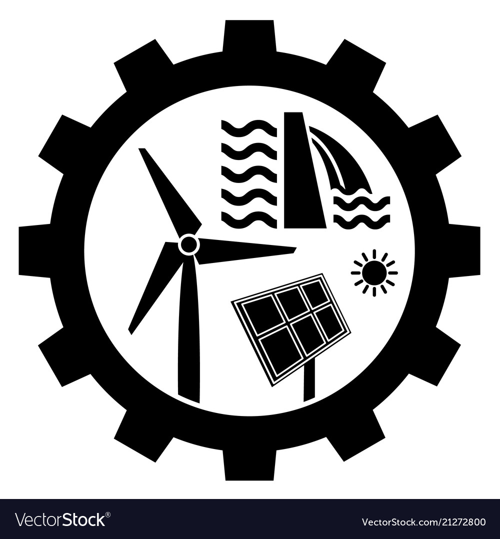 Renewable Energy Industry Icon Royalty Free Vector Image
