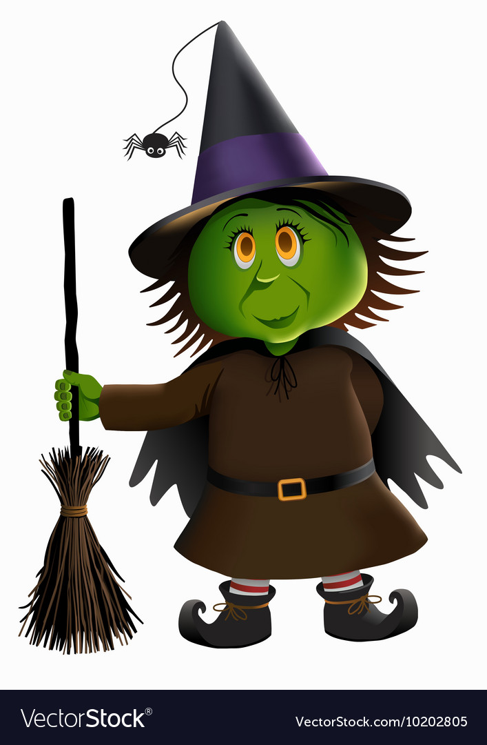 Green Witch and Broomstick