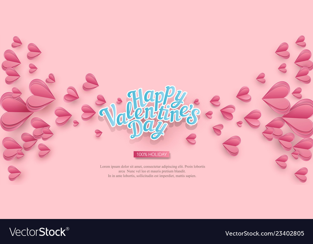 Holiday background for valentines day pink vector