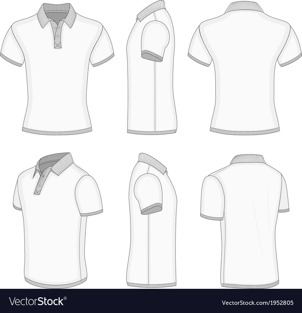 Mens white short sleeve polo shirt