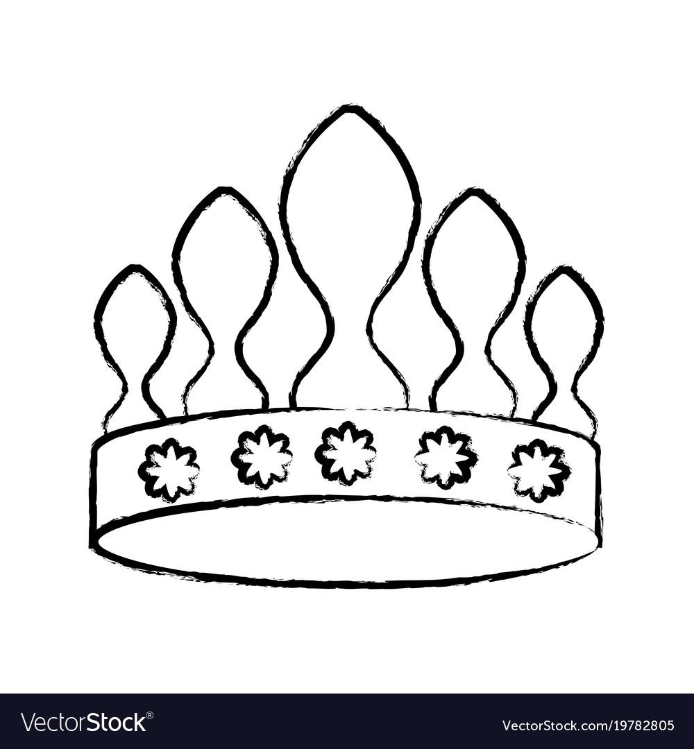 Queen crown icon image vector image