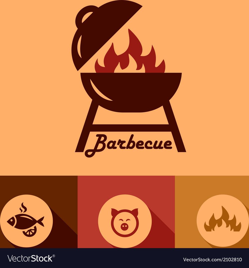 Barbecue design elements vector image