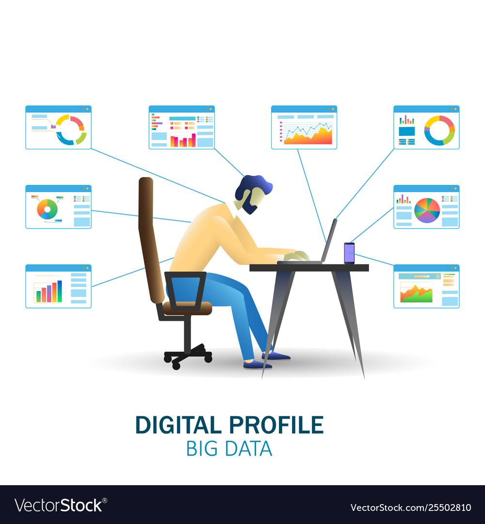 Big data technology concept web banner