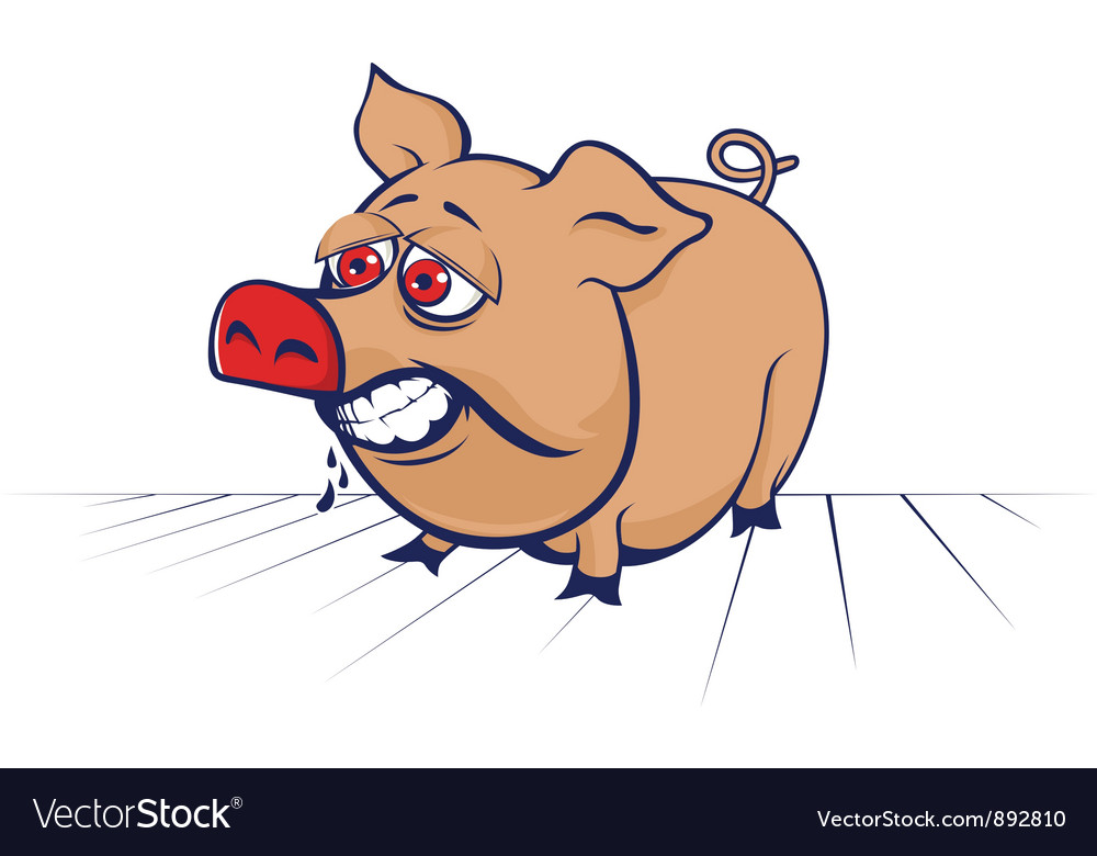 Cartoon evil pig vector art - Download Healthy vectors ...