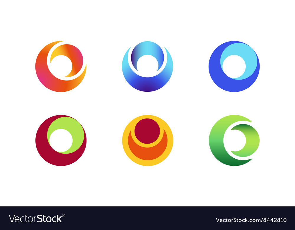 Circle ring logo design set