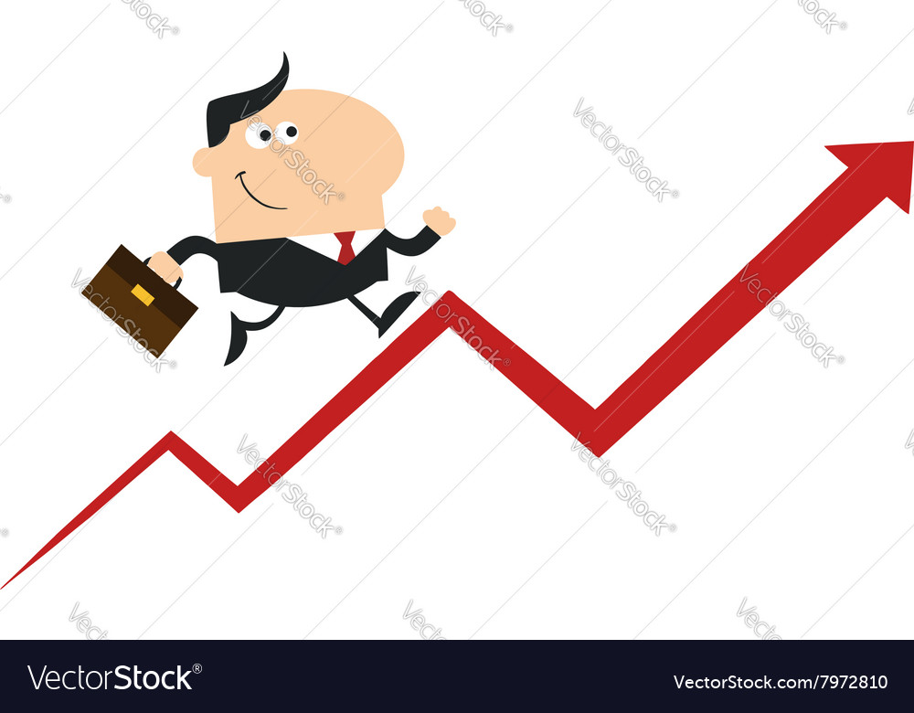 man running up the success ladder cartoon vector image vectorstock