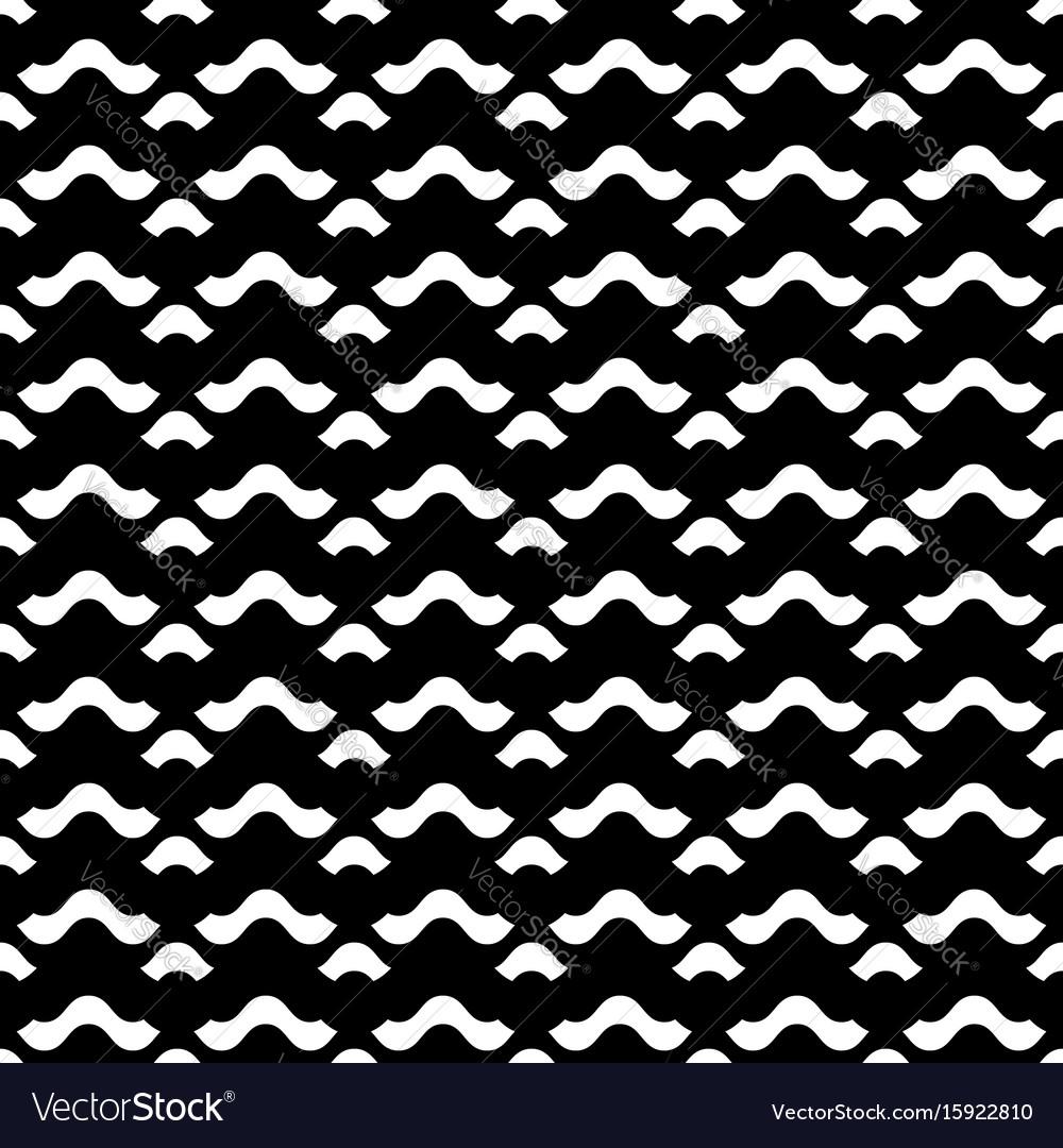 Seamless pattern horizontal wavy lines vector image